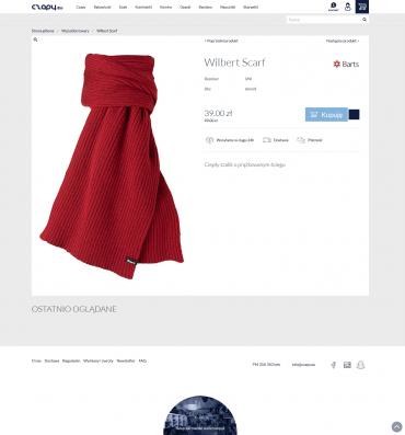 Obsługa sklepu internetowego CzapyEu - ciepłe dłonie i uszy