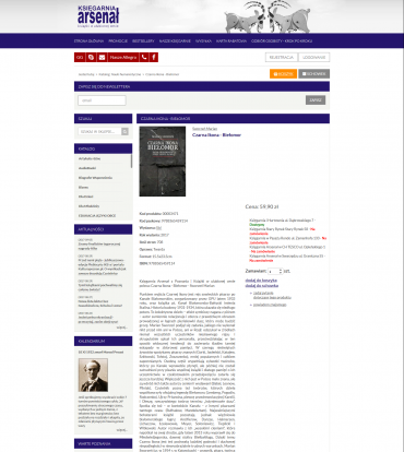 Obsługa sklepu internetowego Księgarnia Arsenał Poznań
